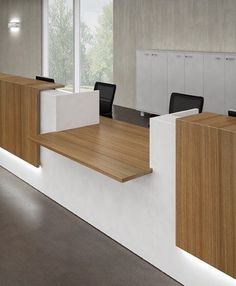 looks like it may be a good resource for us for furnishings.Reception Desks - Contemporary and Modern Office Furniture Modern Reception Desk, Reception Desk Design, Reception Counter, Office Reception, Reception Furniture, Bank Interior Design, Counter Design, Bureau Design, Contemporary Office