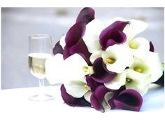 flores para boda morada y blanco