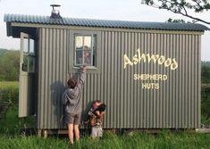 Our Shepherd Huts and Shepherd Cabins. Shepherds Hut For Sale, Bistro Interior, Timber Buildings, Garden Buildings, Garden Huts, Wood Effect Tiles, Luxury Cabin, Modern Tiny House, Garden Studio