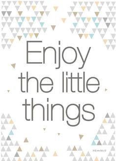 Affiche enjoy the little things pastel via Oh my home gallery. Click on the image to see more!
