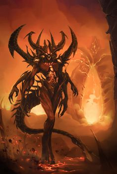 A fan art of diablo when I first saw Leah in the cinema premiere, I must say she's a very attractive girl that I have never seen, sadly, blizzard tur. Leah - the diablo girl Dark Fantasy Art, Fantasy Artwork, Dark Art, Demon Artwork, Creature Concept, Monster Art, Angels And Demons, Creature Design, Mythical Creatures