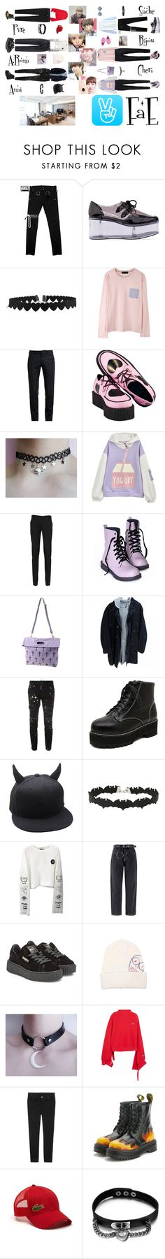 """""""✨ Sibling V-App I ✨ Outfits ✨"""" by fae-official ❤ liked on Polyvore featuring Y.R.U., Kiss the Sky, Alexander McQueen, T.U.K., Uniform Union, Christian Dior, Dsquared2, Miss Selfridge, Puma and Vivienne Westwood Man"""