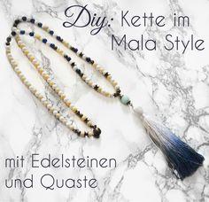 Vintageparts DIY mehrreihige Perlenkette mit kleinen Perlen in schwarz 1 St/ück zum Schmuck selber