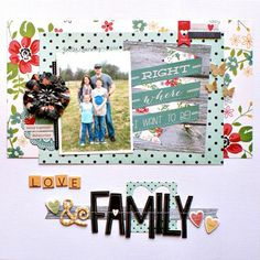 My Creative Scrapbook May Main Kit created by Guest Designer Jenny Evans.