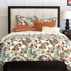 """Zinc Door bedding - Bayliss Rust Bedset EABB239.  Reminds of the gorgeous living room chairs on """"The Big C"""""""