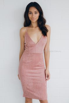 kimora suede dress - blush