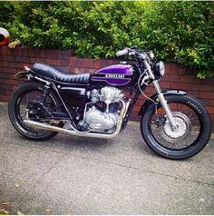 Custom Motorcycles, Custom Bikes, Cars And Motorcycles, Yamaha 125, Off Road Bikes, Kawasaki Motorcycles, Touring Bike, Old Bikes, Mopeds