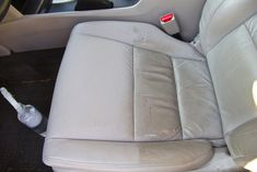 The Perfect DIY To Clean Car Upholstery If you do any driving with kids, then you know how disastrous they can be for your car's upholstery. If you have any in car seats still, that disaster can b. Clean Leather Seats, Cleaning Leather Car Seats, Clean Car Seats, Diy Leather Car Seat Cleaner, Car Upholstery Cleaner Diy, E36 Cabrio, Car Cleaning Hacks, Daily Cleaning, Car Hacks