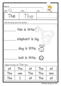Sight Word Activities for Kindergarten image 2