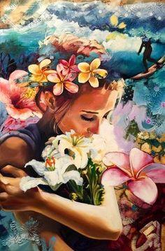 As pinturas fantasiosas de Dimitra Milan - Just Lia Dimitra Milan, Art Amour, L'art Du Portrait, Inspiration Artistique, Ouvrages D'art, Fine Art, Beautiful Paintings, Art Inspo, Painting & Drawing