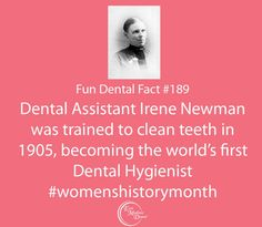 #womenshistorymonth fun facts from East Madison Dental! Our fun dental facts are guaranteed to make you smarter! #themoreyouknow #dentalcare #dental #dentalhumor #dentaltips #oralhealth #oralcare