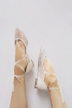 Bridal ballet shoes! I want these for my outdoor, forest reception ...