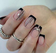 Let your nails look great with nail art. Elegant Nails, Stylish Nails, French Nails, Hair And Nails, My Nails, Pop Art Nails, Square Nail Designs, Nail Art Designs Videos, Modern Nails