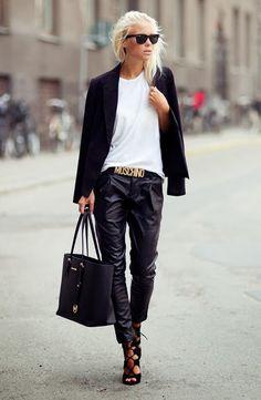 Chic and Silk: TREND ALERT: Baggy Δερμάτινο Παντελόνι. Γιατι έχει κατακτήσει τους δρόμους του στυλ!