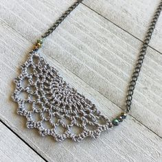 Crochet Necklace Boho Chic Necklace Crocheted Statement