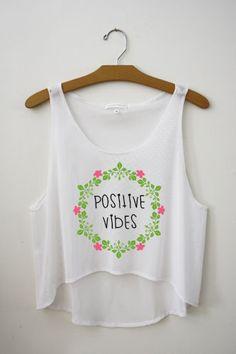 Positive Vibes Crop Top