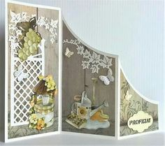 Z Cards, Flip Cards, Cute Cards, Tri Fold Cards, Fancy Fold Cards, Folded Cards, Card Making Inspiration, Making Ideas, Screen Cards