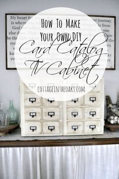 How to Make Your Own DIY Card Catalog TV Cabinet