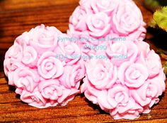 Roses ball silicone soap mold https://www.facebook.com/DreamSoapbyThanya