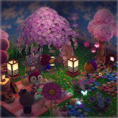 """る ん 𐂂☘︎@森🧸 on Twitter: """"コテージは夜桜ver.🍡🌸🌙.*·̩͙ #ポケ森 #AnimalCrossingPocketCamp #ポケ森コテージ 🌸… """""""
