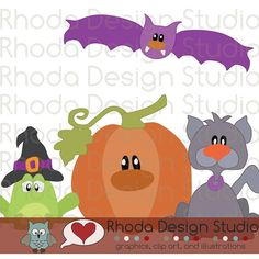Halloween Pals Machine Cutting File - SVG and SCAL. $6.00, via Etsy.