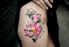 Ideas Of Cool Geometric Tattos Great Tattoos, Sexy Tattoos, Unique Tattoos, Small Tattoos, Girl Tattoos, Tattoos For Guys, Tattoos For Women, Sleeve Tattoos, Girl Flower Tattoos