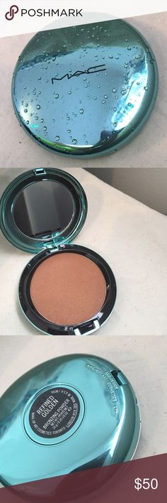 MAC limited edition bronzing powder Limited edition from Alluring Aquatics line bronzing powder in refined golden. Never used, never swatched. Brand new, box is in perfect condition too! Beautiful teal compact dramatically accented with clear 💦 MAC Cosmetics Makeup Bronzer