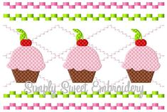 Cupcake Faux Smocking Machine Embroidery by SimplySweetEmbroider