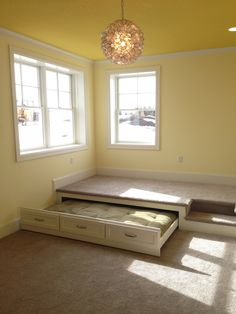 Trundle bed in the floor