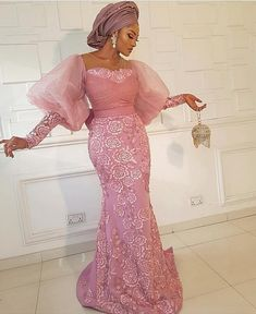 Here are 50 Most Gorgeous New Looks of Lace Aso Ebi Gown Styles Perfect For Owambe Party. Nigerians are globally the best designers of lace aso ebi gown styles. Nigerian Lace Dress, Nigerian Lace Styles, Aso Ebi Lace Styles, African Lace Styles, Lace Dress Styles, African Lace Dresses, Latest African Fashion Dresses, Latest Aso Ebi Styles, Ankara Fashion
