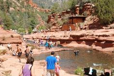 Slide Rock. Stop by this state park if you are in Sedona in the summer.