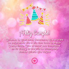postal de felicitacion de cumpleaños
