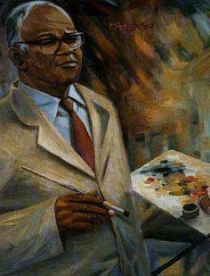 Self-Portrait, 1980 by George Pemba. self-portrait South Africa Art, Social Realism, Black Art Pictures, South African Artists, Art Database, Your Paintings, Artist Art, Selfies, Portrait