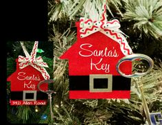 Santa's Magic Key Keychain Ornament  by PinkDaisyDesigns on Etsy