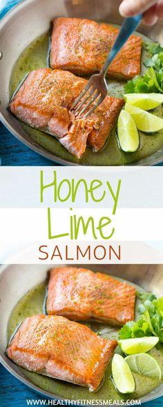 Honey Lime Salmon | Salmon Recipes | Healthy Dinner Recipes | Healthy Lunch Recipes | Seafood Recipes | Low Carb Recipes | Best Salmon Recipes | Main Course Recipes | Entree Recipes | Healthy Fitness Meals | #healthyfitnessmeals #honey #lime #salmon #lowcarb