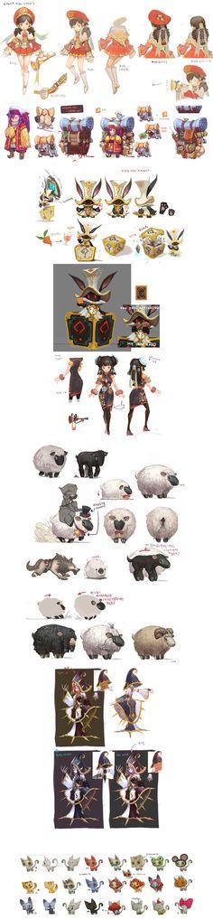 DragonNest(2010)_Character _by Seung Chan Lee _from ArtStation (https://www.artstation.com/artist/skulit)_龍之谷部分人物怪物概念圖;此為部分截錄,點開看完整。
