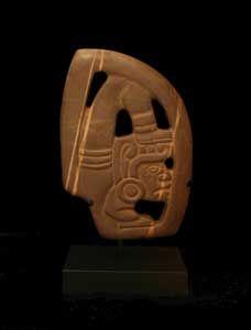 "Mayan Stone Hacha - SP.462 Origin: Mexico Circa: 300 AD to 900 AD  Dimensions: 10"" (25.4cm) high x 6.75"" (17.1cm) wide  Collection: Pre-Columbian Style: Mayan Medium: Stone  $28,000.00  Location: United States"