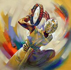 Shankar Gojare Indian Contemporary Art, Modern Art, Rajasthani Painting, Indian Art Paintings, India Art, Indian Artist, Cultural, Dance Art, Figure Painting