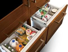 Integrated refrigerator high-performance convertible drawer.