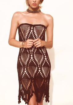 Fringe Dress Made to Order in any size and color by DearAlina, $189.00
