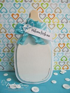 Scrappin Cookie: My Craft Spot Stamp Release BLOG HOP!! - Baby Bottle Announcement Card