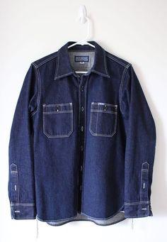 Iron Heart IHSH-53 Indigo Heavy 12oz Selvedge Work Shirt Sz S $295 Denim Extinct #IronHeart #ButtonFront