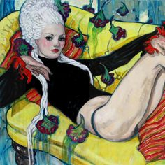 """Rebecca Leveille (@r_leveille_guay), known for her dreamy watercolors, explores a colorful and sexy new style in her upcoming show @coreyhelfordgallery…"""
