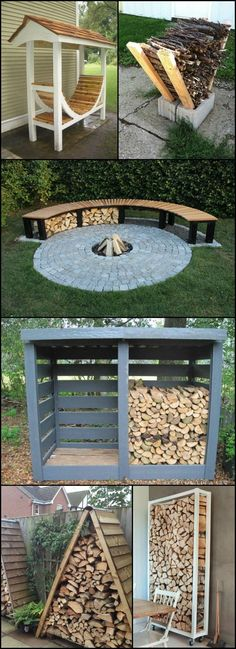 Firewood Storage Ideas  theownerbuilderne...  Do you have a wood burning firepla..