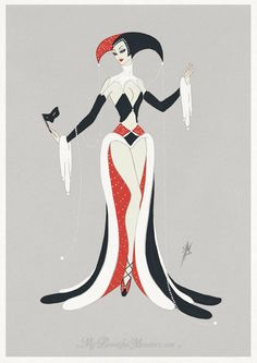 Art Deco Harley Quinn by MyBeautifulMonsters