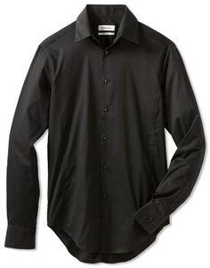Calvin Klein Mens Body Slim Fit Dress Shirt, Black, 16/32-33 Calvin Klein,http://www.amazon.com/dp/B00BZQ7F06/ref=cm_sw_r_pi_dp_u.iNrb2541D645B8