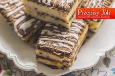 CIASTO MICHALINKA BEZ PIECZENIA - przepis na pyszne, autorskie ciasto, do którego przygotowania nie potrzeba piekarnika. Wyśmienity smak! Cake Cookies, Cupcakes, Food Cakes, Doughnuts, Tiramisu, Cake Recipes, French Toast, Food And Drink, Baking
