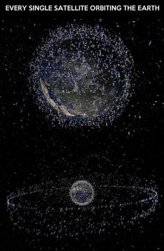 "I'm not sure if this is illustrates just the ""true"" satellites (communication, weather, etc) or if this includes all the space ""junk"" as well. lt's hard to believe NASA can keep track of every tiny paint chip, bolt and metal fragment spinning around up there!"