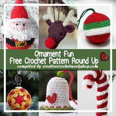 CHRISTMAS ORNAMENT FUN   FREE CROCHET PATTERN ROUND UP   CREATIVE CROCHET WORKSHOP