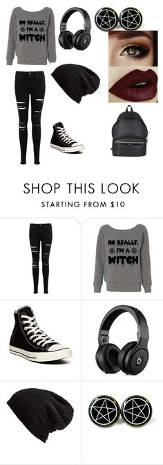 """No really, I'm a witch"" by luna-iero-way ❤ liked on Polyvore featuring Miss Selfridge, Converse, Free People and Yves Saint Laurent"
